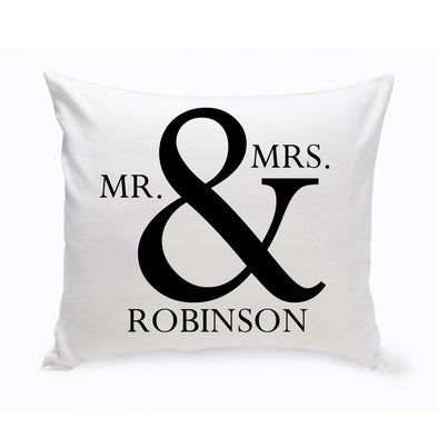 Personalized Mr & Mrs Throw Pillow -  - JDS