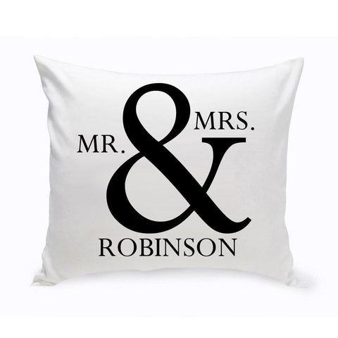 Personalized Mr & Mrs Throw Pillow -  - Home Decor - AGiftPersonalized