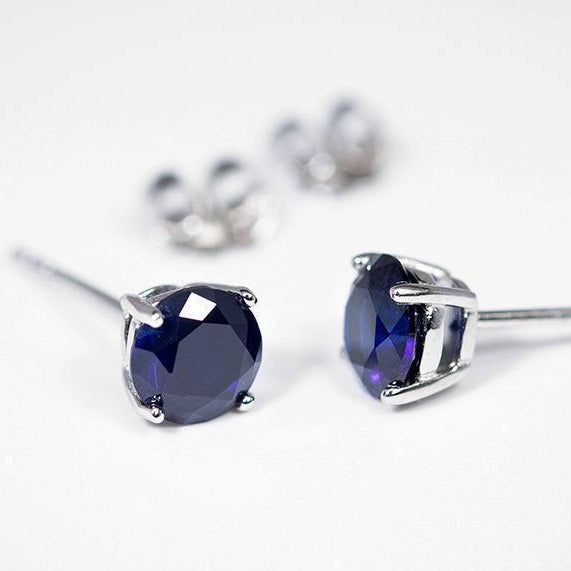 Sapphire Earrings (1.2 Carat Total Weight)