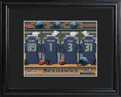 Personalized NFL Family Cheer Print & Frame  - Seahawks - Professional Sports Gifts