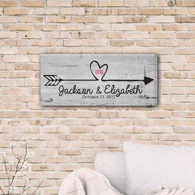 Follow Your Heart Personalized Canvas Print -  - JDS