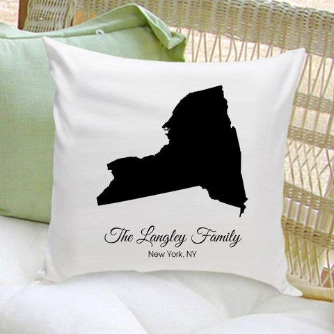 Personalized Throw Pillow - All 50 States -  - Home Decor - AGiftPersonalized