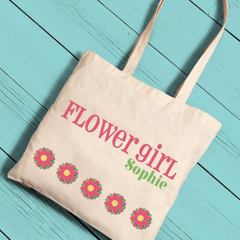 Personalized Flower Girl Canvas Tote -  - Gifts for Kids - AGiftPersonalized