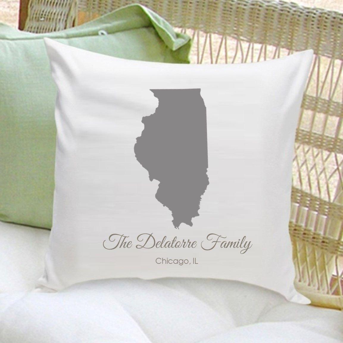 Decorative Pillows With States : Personalized State Throw Pillow