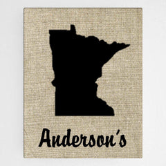 Personalized Country Home State Canvas Sign -  - Canvas Prints - AGiftPersonalized