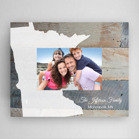 Personalized Souvenir Home State Frame Picture Frames -  - JDS