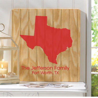 Personalized State Wood Sign -  - JDS