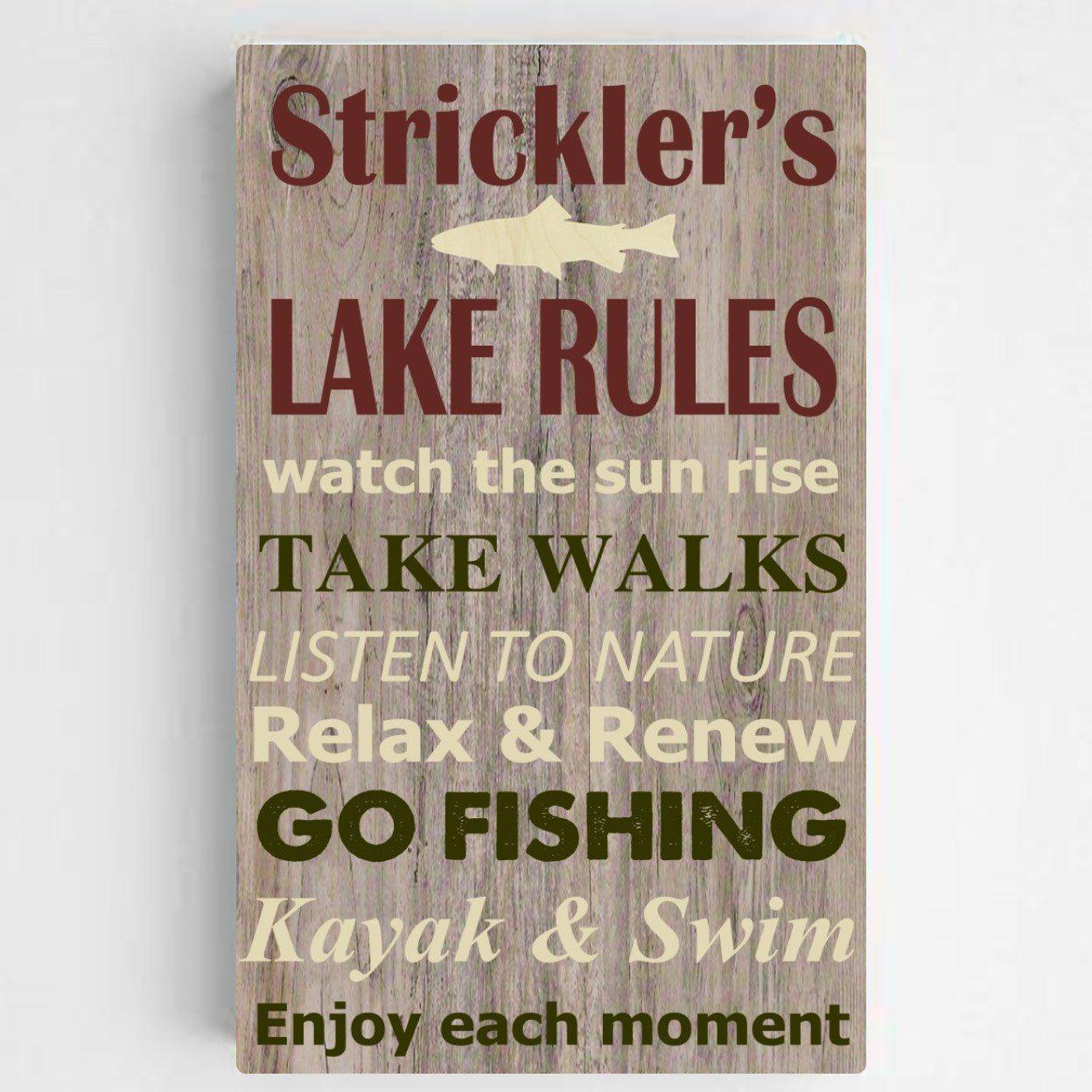 Personalized Lake House/Cabin Rules Canvas Print