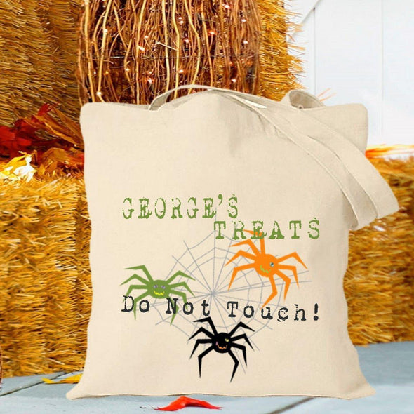 Personalized Trick or Treat Bags - Halloween Treat Bags - Spiders - JDS