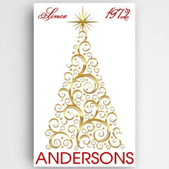 Personalized Christmas Tree Canvas Sign