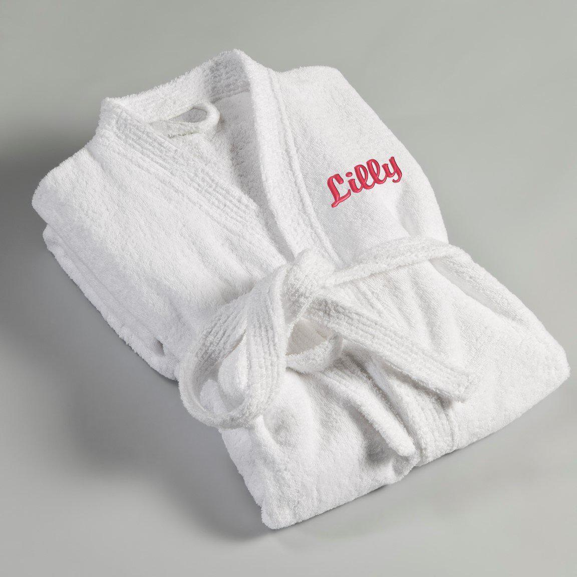 Personalized Women's Embroidered Bathrobe