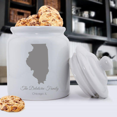 Personalized State Cookie Jar -  - JDS