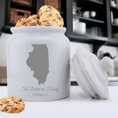 Personalized State Cookie Jar