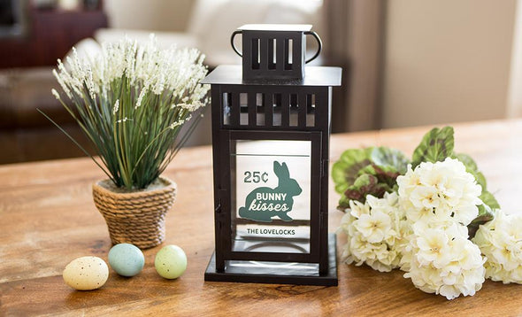 Personalized Spring Lanterns - Black - Qualtry