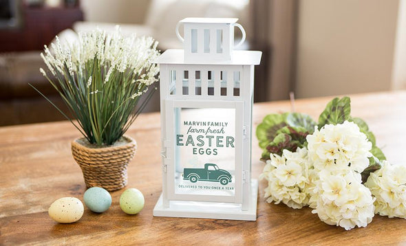 Personalized Spring Lanterns - White - Qualtry