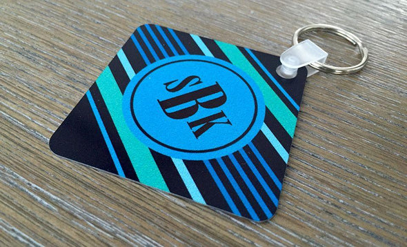 Personalized Key Chains - Square Designs -  - Qualtry