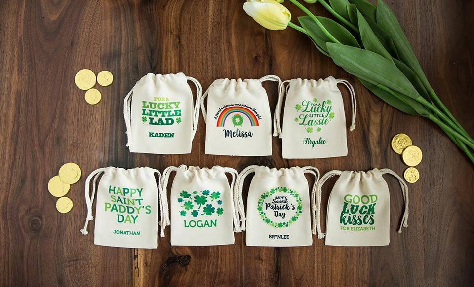 St. Patrick's Day Personalized Small Gift Bags