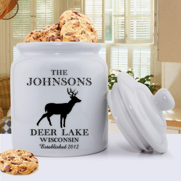 Personalized Cabin Series Cookie Jar - Stag - JDS
