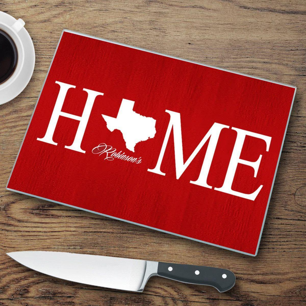 Personalized Home State Glass Cutting Boards