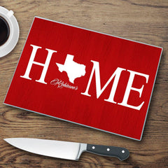 Personalized Home State Glass Cutting Board