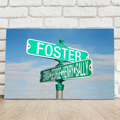 Personalized Street Sign with Names Canvas Print -  - JDS