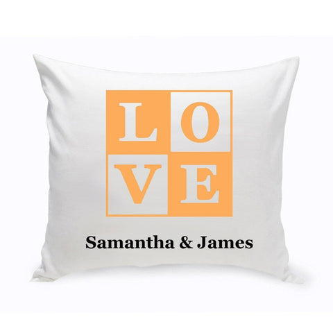 Personalized Couples Unity Throw Pillow - Love