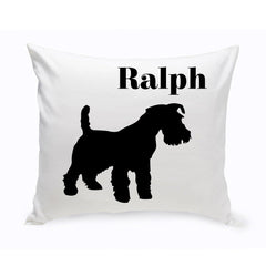 Monogrammed Dog Throw Pillow -  Classic Silhouette - ScottishTerrier - Pet Gifts - AGiftPersonalized