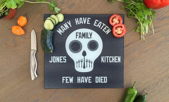 Personalized Tempered Glass Square Cutting Boards -  - Qualtry