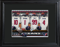 Personalized NFL Locker Sign w/Matted Frame - All Teams - Texans - Professional Sports Gifts - AGiftPersonalized