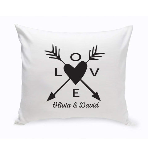 Personalized Love Arrow Throw Pillow - Black - Home Decor - AGiftPersonalized