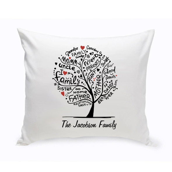 Personalized Family Roots Tree Square Throw Pillow -  - JDS