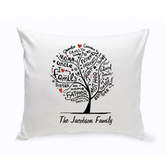 Personalized Family Roots Throw Pillow -