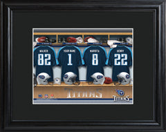 Personalized NFL Family Cheer Print & Frame  - Titans - Professional Sports Gifts