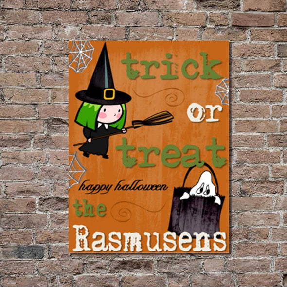 Personalized Halloween Stretched Canvas Wall Decor - ORNTrick - JDS
