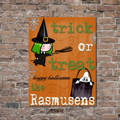 Personalized Halloween Stretched Canvas Wall Decor - ORNTrick - Canvas Prints - AGiftPersonalized