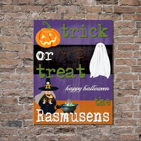 Personalized Halloween Stretched Canvas Wall Decor - PurTrick - Canvas Prints - AGiftPersonalized