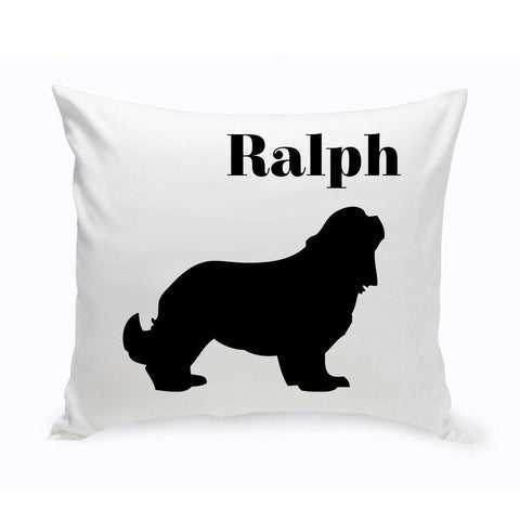 Monogrammed Dog Throw Pillow -  Classic Silhouette - CockerSpaniel - Pet Gifts - AGiftPersonalized