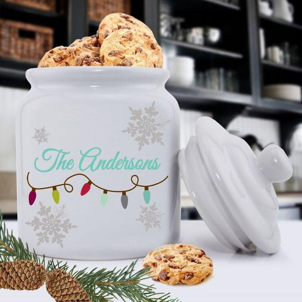 Personalized Christmas Lights Cookie Jars -  - JDS
