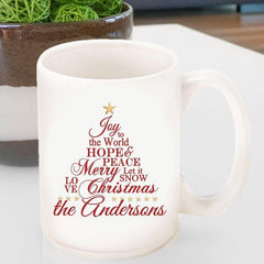 Personalized Holiday Coffee Mug - Joy -  - Keepsake Gifts - AGiftPersonalized