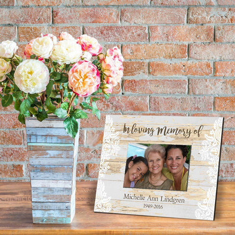 Personalized Memorial Frame - Beige - Frames - AGiftPersonalized