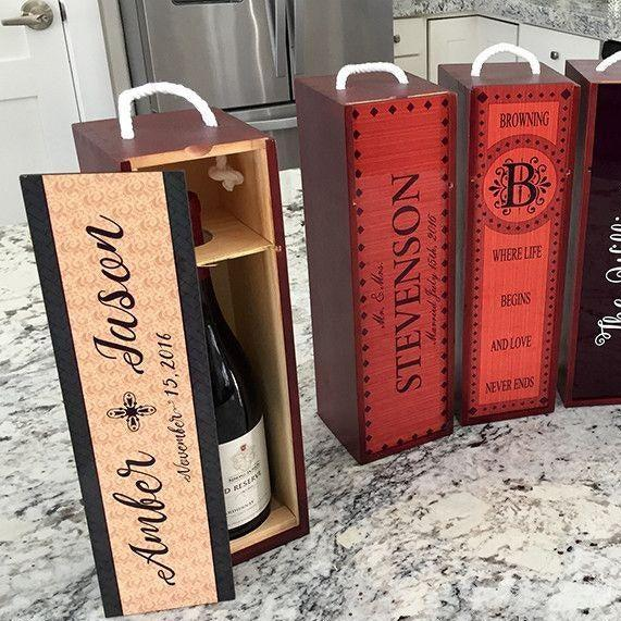 Personalized Decorative Wine Case