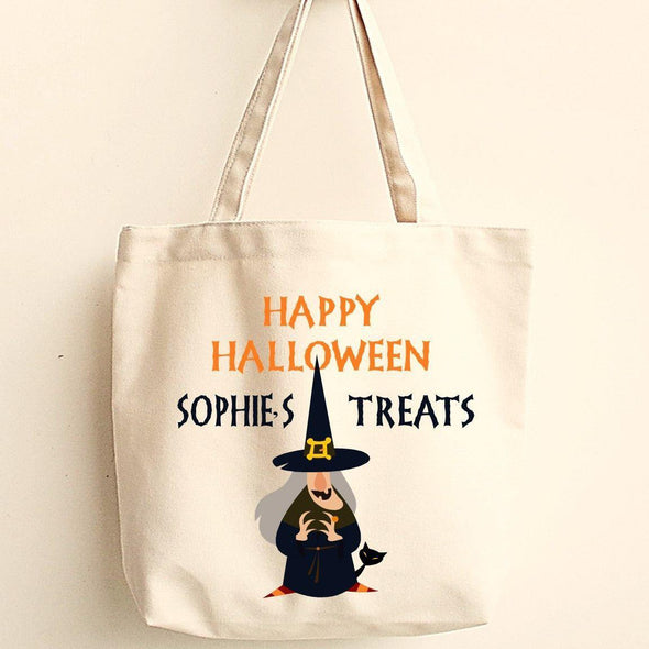 Personalized Trick or Treat Bags - Halloween Treat Bags - Gifts for Kids - WitchesC - JDS