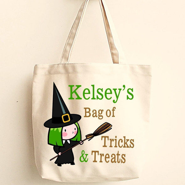 Personalized Trick or Treat Bags - Halloween Treat Bags - Gifts for Kids - WitchesB - JDS