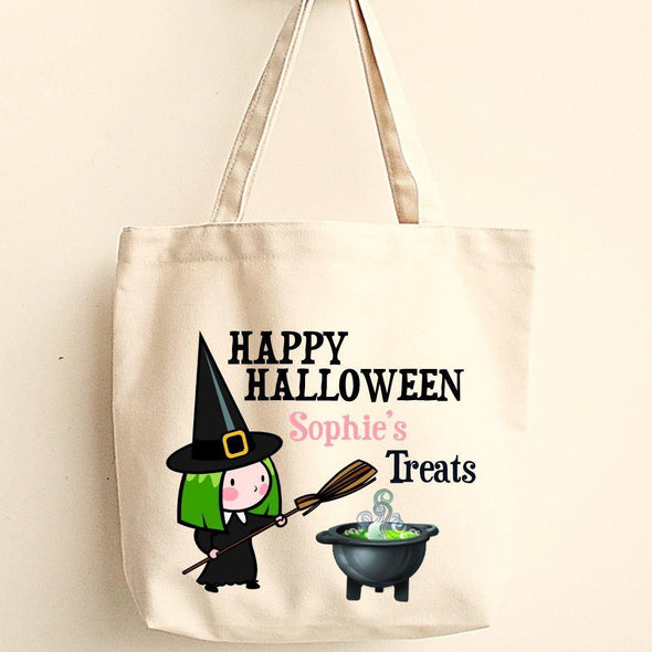 Personalized Trick or Treat Bags - Halloween Treat Bags - WitchesP - JDS
