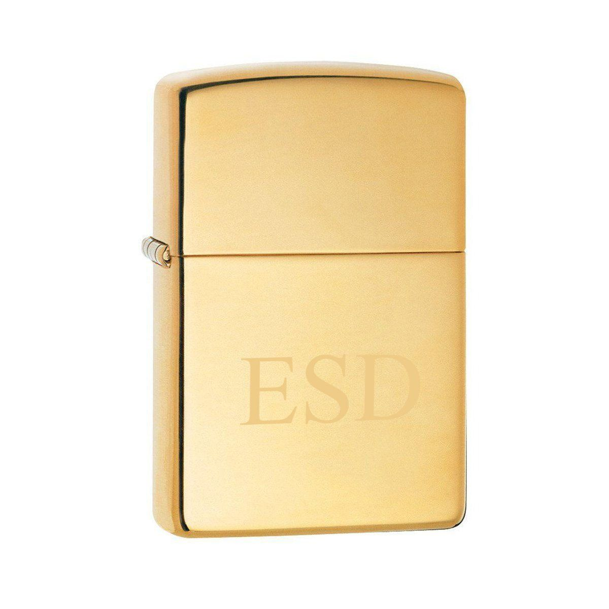 Personalized-High-Polish-Brass-Zippo-Lighter