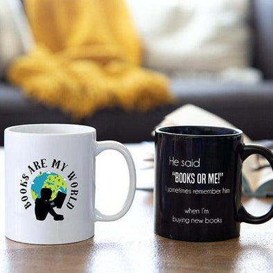 Personalized Books Are My World Mug Collection -  - Qualtry