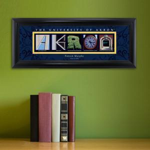 Personalized University Architectural Art - College Art - Akron - JDS