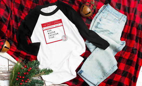 Personalized Santa's Nice or Naughty List T-Shirts -  - Qualtry
