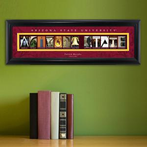 Personalized University Architectural Art - PAC 12 College Art - ArizonaST - Personalized Wall Art - AGiftPersonalized