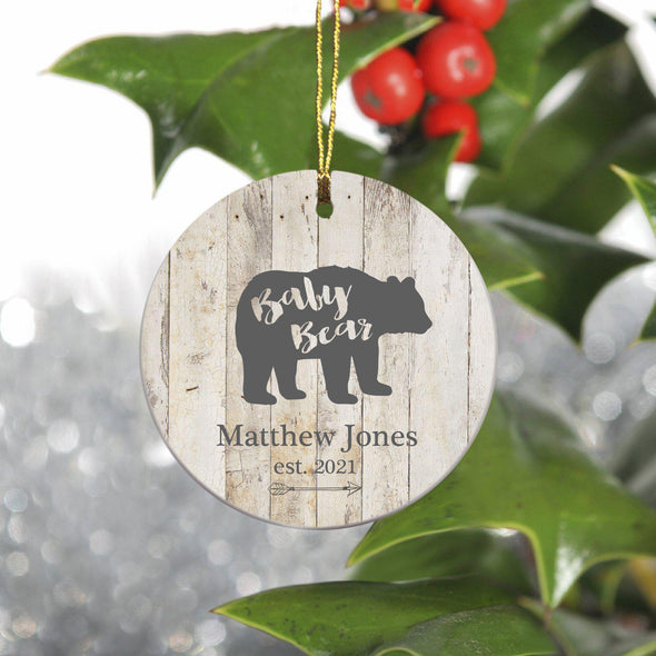 Personalized Family Ornament - Christmas - Bear Family - BabyBear - JDS